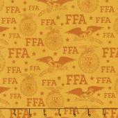 FFA Forever Blue - FFA Logo Gold Yardage
