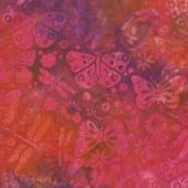 Moroccan Bazaar Batiks - Butterfly Paisley Punch Yardage