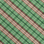 Cabin Welcome Flannel - Plaid Green Yardage