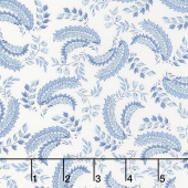 Regency Ballycastle Chintz 18th Century - Greyabbey Off White English Blue Yardage