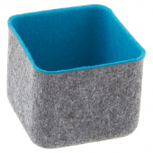 Felt Square Storage Bin - Turquoise