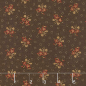 Hickory Road - Bouquet Dark Brown Yardage