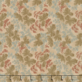 Collection for a Cause - Heritage 10th Anniversary Leaves & Berries Tan Yardage