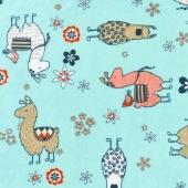 "Cuddle Prints - No-Prob Llama Aruba 60"" Minky Yardage"