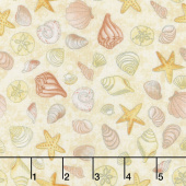 Water Wishes - Seashells Sand Coral Yardage