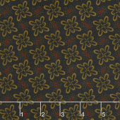 Ebony & Onyx - Celtic Loops Black Yardage