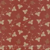 Shelbyville - Leaf & Daisy Brick Red Yardage