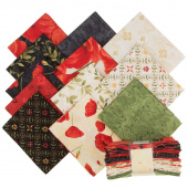 Scarlet Dance Fat Quarter Crystals