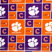 College - Clemson University Allover Yardage