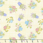 Butterfly Garden - Happy Flowers Light Lemon Yardage