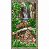 On the Wild Side - Leopard Brown Panel
