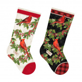 Cardinal Woods - Stocking Cream Multi Digitally Printed Panel