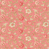 La Rose Rouge - Felicite Faded Red Yardage
