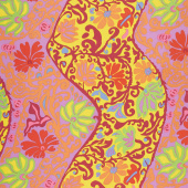 Kaffe Fassett Collective Spring 2019 - Bright Bali Brocade Yellow Yardage