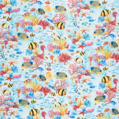 Aquarium - Under the Sea Creatures Multi Yardage
