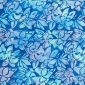 Artisan Batiks - Garden Style Flowers Peacock Yardage
