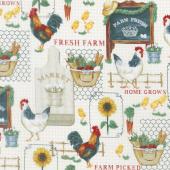 Sunflower Market - Market Collage Multi Yardage