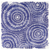 Indigo Patterns Coaster - Spirals