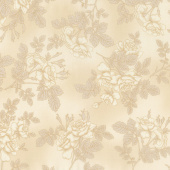 Paris Romance - Flowers Ivory Yardage