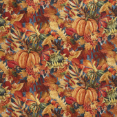 Our Autumn Friends - Pumpkin Patch Gray Yardage