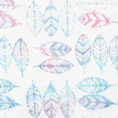 Salt Water Taffy Batiks - Feathers Crystal Yardage