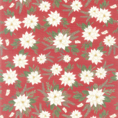 Farmhouse Christmas - Floral Main Red Yardage