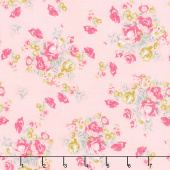 Chloe and Friends - Floral Pink Yardage