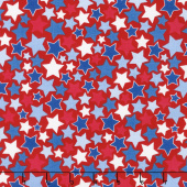 Patriotic Picnic - Stars Red Yardage