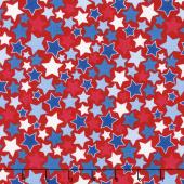 Patriotic Picnic - Stars Red Yardage