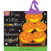 Huggable & Lovable Books - Five Little Pumpkins Book Panel