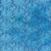 Punch Batiks - Canterbury Bells Harbor Blue Yardage