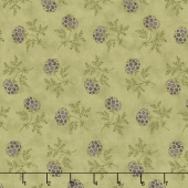 Clover Meadow - Puff Ball Floral Green Yardage