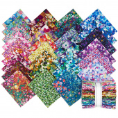 Painterly Petals Digitally Printed Fat Quarter Bundle
