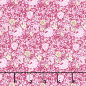 Garden Delights - Dotted Flowers Pink Yardage