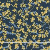 Bricolage - Leaves and Vines Navy Yardage
