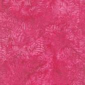 Floralicious Batiks - Four Square Leaves Magenta Yardage