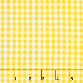 Splash of Lemon - Small Gingham Yellow Yardage