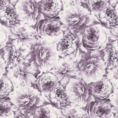 Meredith - Packed Flowers Purple Yardage