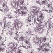 Meredith - Packed Flowers Purple Yardage