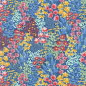 Garden Charm - Flower Field Blue Yardage