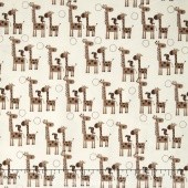 Giraffe Crossing 2 - Giraffes Brown Yardage