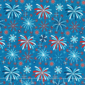 Fireworks & Freedom - Fireworks Blue Yardage
