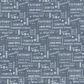 Varsity - Text Navy Yardage