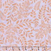 Lilac & Sage - Leaves Lilac Copper Pearl Metallic Yardage
