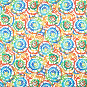 "Spin Art - Multi Digitally Printed 108"" Wide Backing"