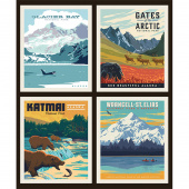 National Parks - National Park Alaska 2 Pillow Panel