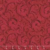 """Beautiful Backings - Elegant Scroll Burgundy 108"""" Wide Backing"""