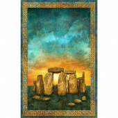 Stonehenge - Solstice Solstice Teal Digitally Printed Panel