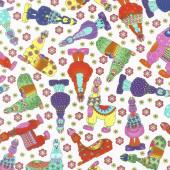 Llama Llama Bo Bama - Llama Toss White Yardage