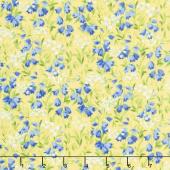Summer Breeze V - Blue Bells Yellow Yardage